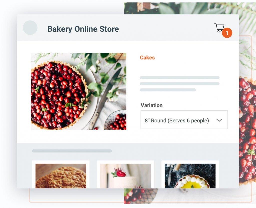 Ordernova online store screenshot
