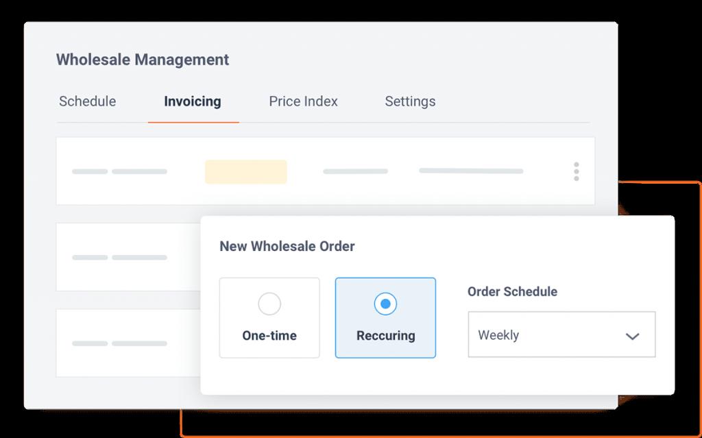 Screenshot: wholesale order management for bakery